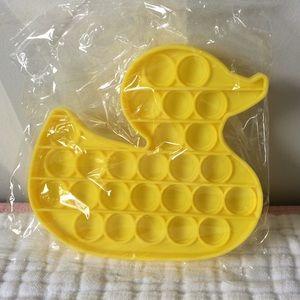 Yellow Duck Shape Pop it push fidget toy